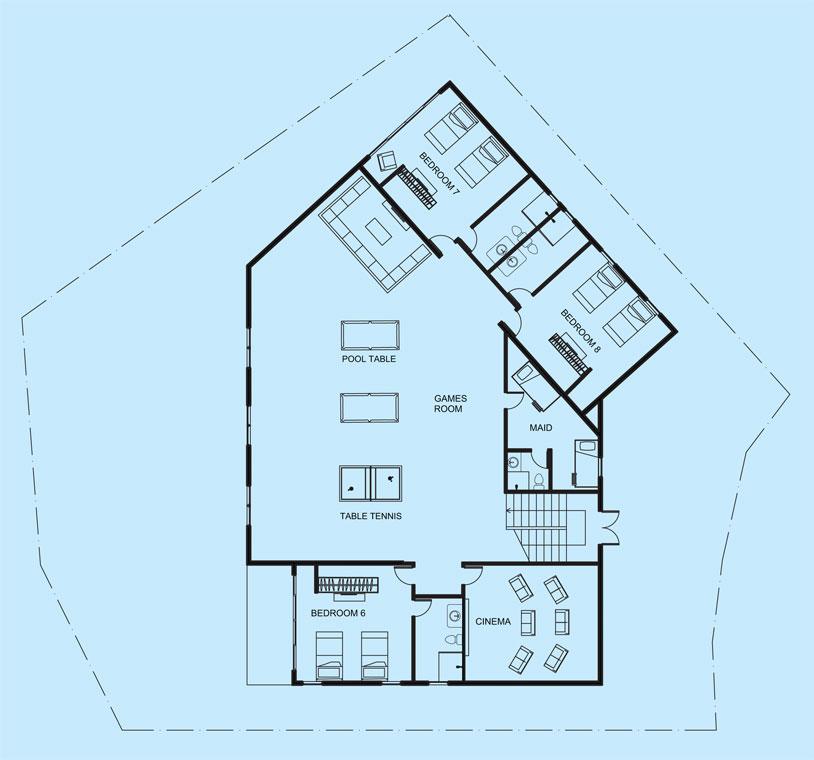Diamond View lower level floor plan