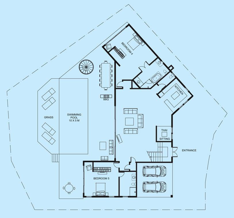 Diamond View middle level floor plan
