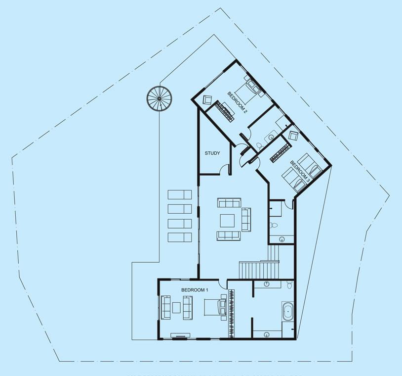 Diamond View upper level floor plan