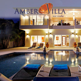 amber villa, nai harn phuket, sleeps 15 with 7 bedrooms and 6 bathrooms