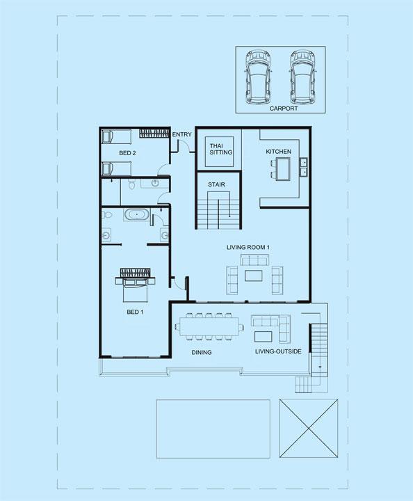 Amber Villa upper level floor plans