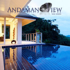 andaman view, nai harn phuket, sleeps 10 with 5 bedrooms and 5 bathrooms