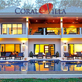 coral villa, nai harn phuket, sleeps 15 with 7 bedrooms and 6 bathrooms
