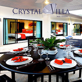 crystal villa, nai harn phuket, sleeps 9 with 4 bedrooms and 3 bathrooms