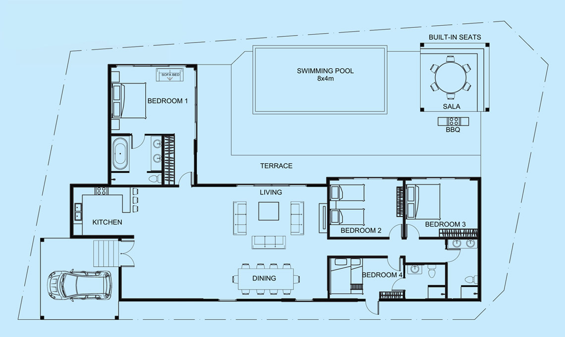 Crystal Villa floor plan