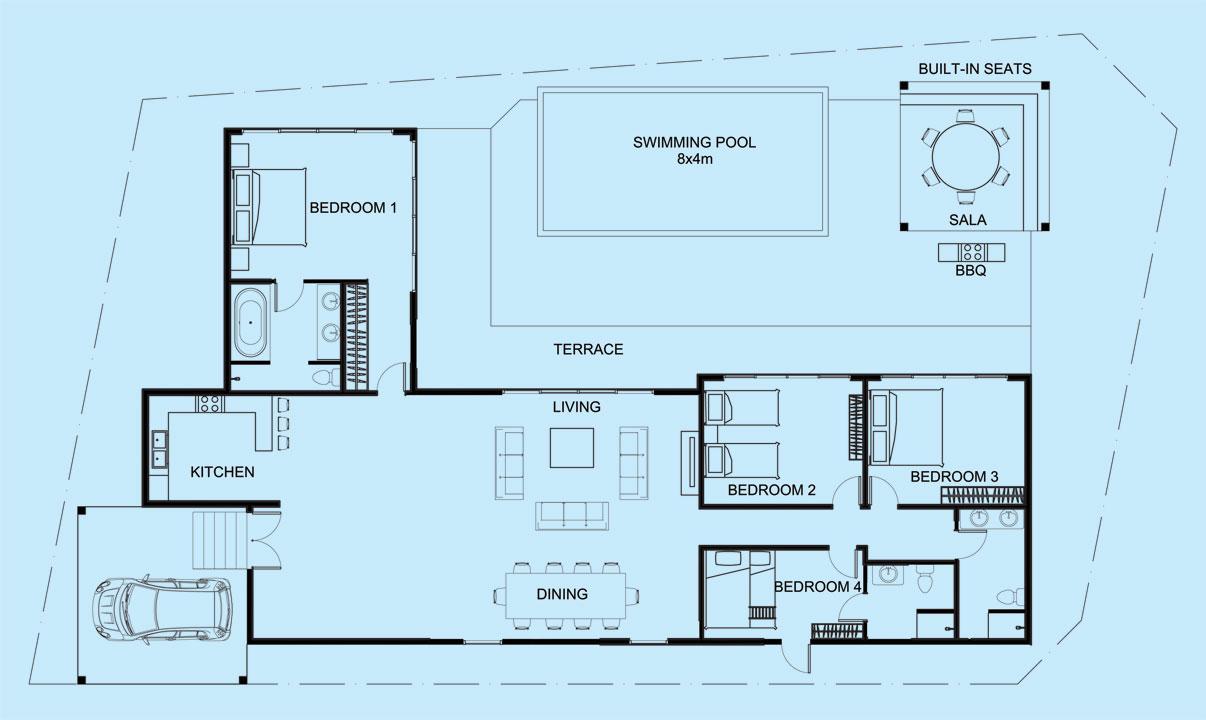 Crystal Villa floor plan