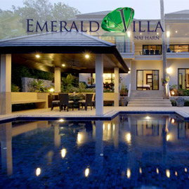 emerald villa, nai harn phuket, sleeps 14 with 6 bedrooms and 6 bathrooms