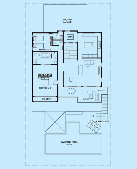 Emerald Villa upper level floor plan