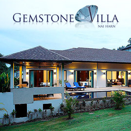 gemstone villa, nai harn phuket, sleeps 9 with 4 bedrooms and 3 bathrooms