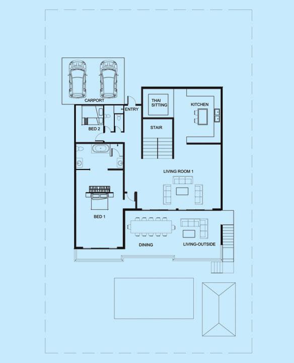 Jade Villa upper level floor plan