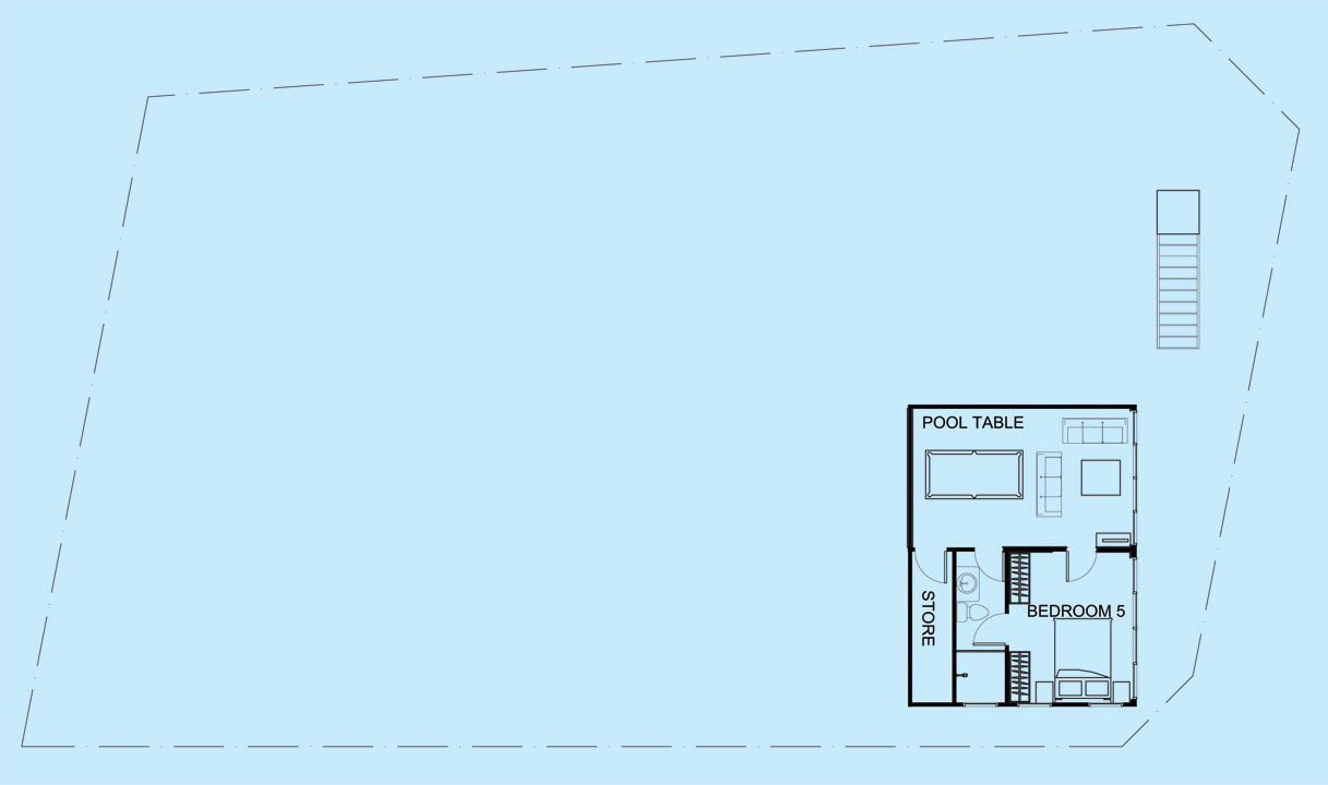 Moonstone Villa lower level floor plan