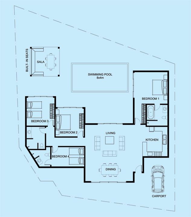 Onyx Villa floor plan