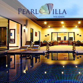 pearl villa, nai harn phuket, sleeps 12 with 6 bedrooms and 5 bathrooms