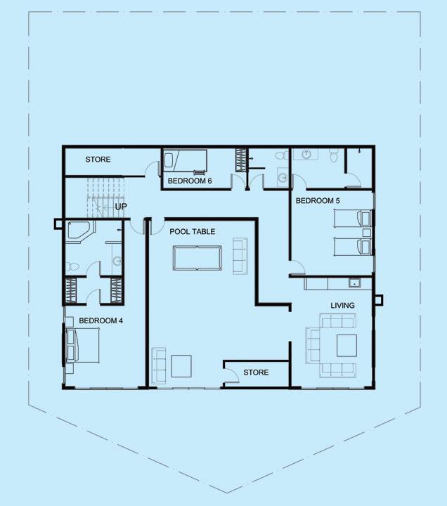 Pearl Villa lower level floor plan