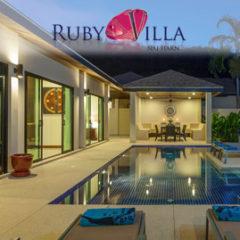 ruby villa, nai harn phuket, sleeps 7 with 3 bedrooms and 2 bathrooms