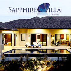sapphire villa, nai harn, phuket, sleeps 8 persons with 4 bedrooms 3 bathrooms