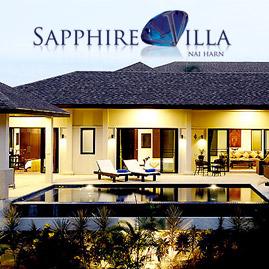 sapphire villa, nai harn, phuket, sleeps 8 persons with 4 bedrooms 3 bathrooms