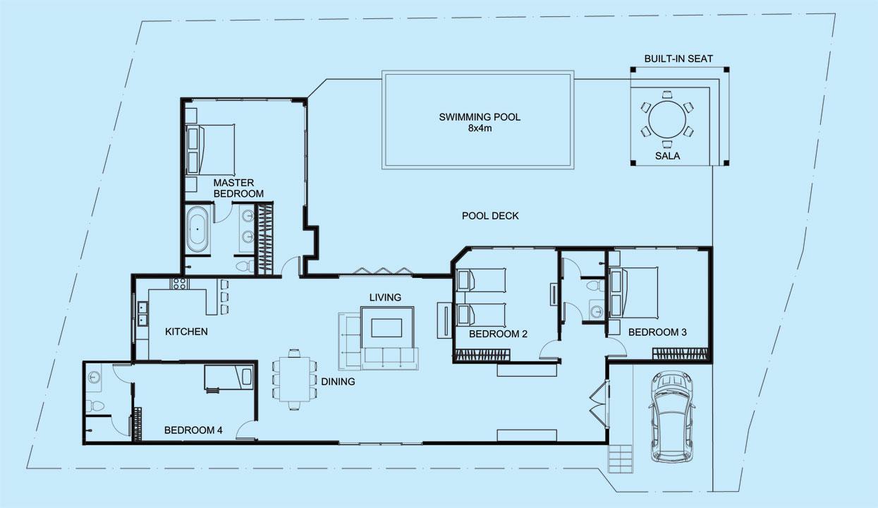Sapphire Villa floor plan