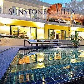 sunstone villa, nai harn phuket, sleeps 14 with 7 bedrooms and 6 bathrooms