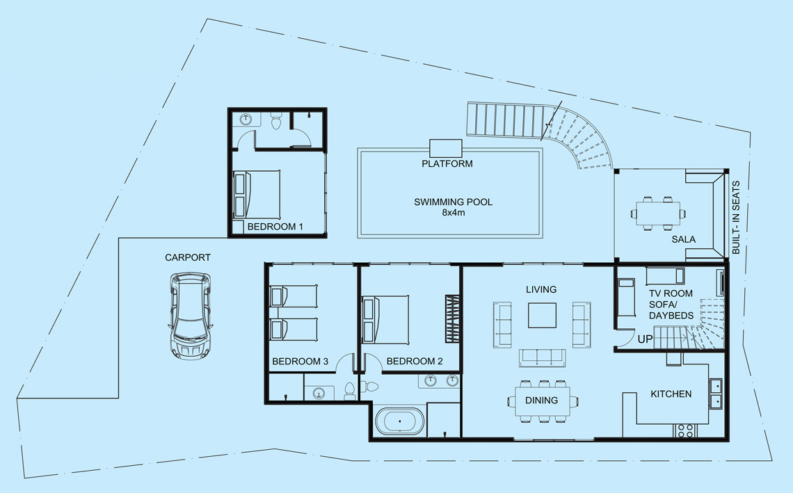 Topaz Villa lower level floor plan