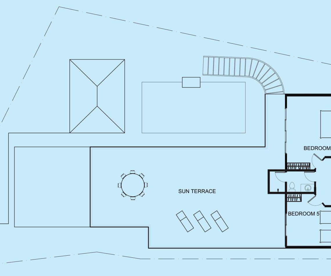 Topaz Villa upper level floor plan
