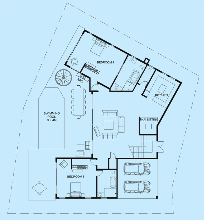 Turquoise View middle level floor plan