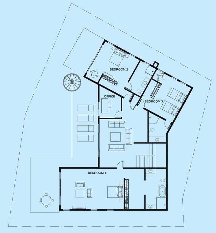 Turquoise View upper level floor plan