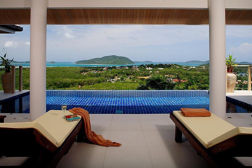 views over rawai and nai harn infinity pool andaman view nai harn phuket holiday rental