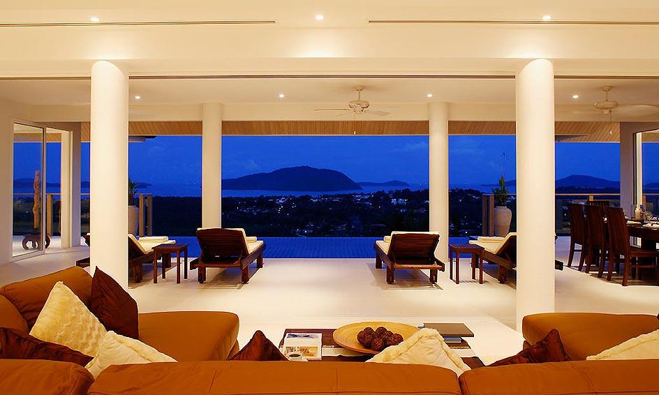 poolside living room andaman view rawai phuket holiday rental