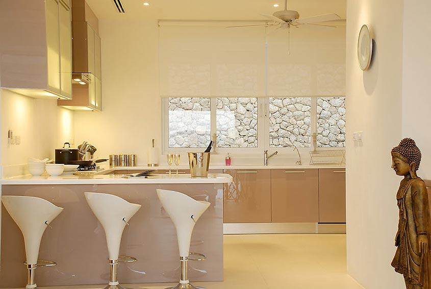western kitchen with seating nai harn phuket holiday rental