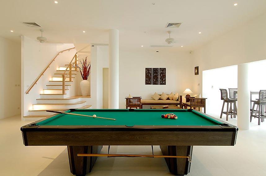 full size pool table games room andaman view rawai phuket holiday rental