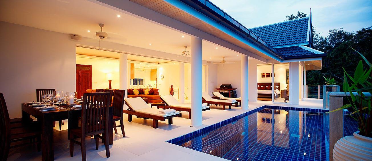 covered poolside seating andaman view rawai phuket holiday rental
