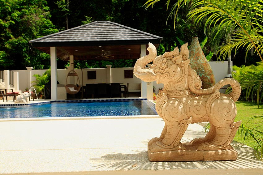 pool with sala coral villa nai harn phuket holiday rental