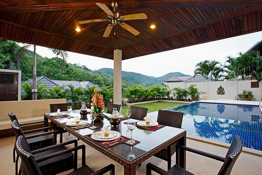sala eating area coral villa nai harn phuket holiday rental