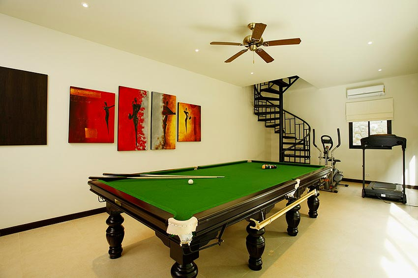 games room full size pool table coral villa nai harn phuket holiday rental