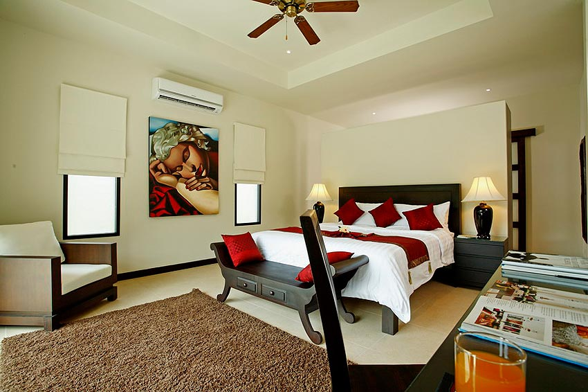 double ensuite bedroom coral villa nai harn phuket holiday rental