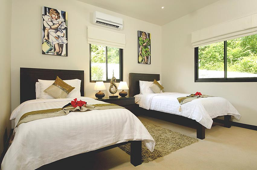 twin bedroom coral villa nai harn phuket holiday rental