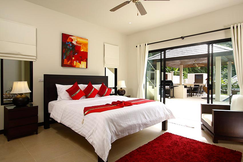 double poolside bedroom coral villa nai harn phuket holiday rental