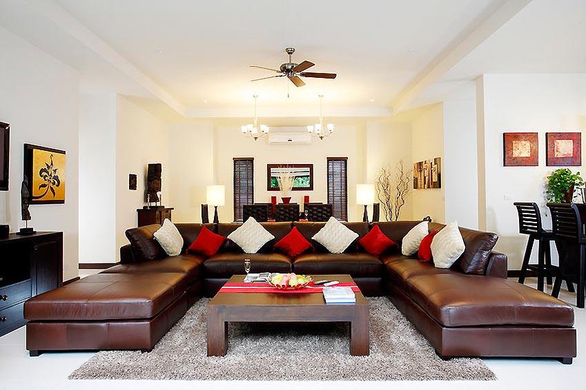 luxury living area home cinema crystal villa nai harn phuket holiday rental