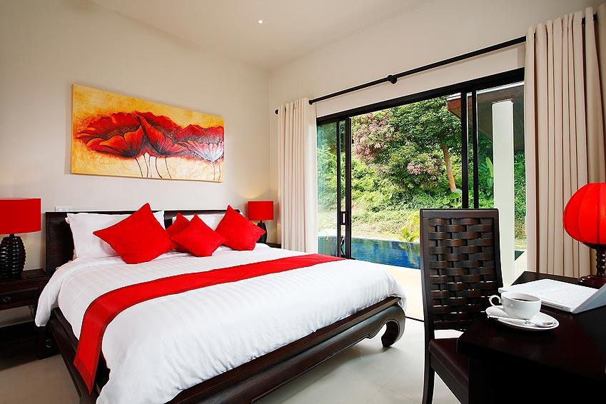 poolside double bedroom