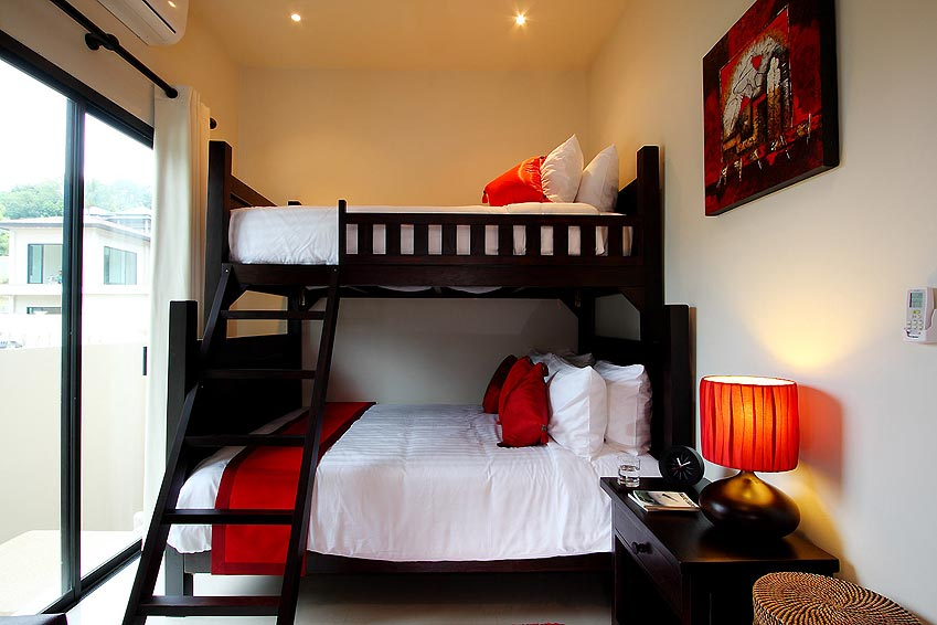 bunk beds crystal villa nai harn phuket holiday rental
