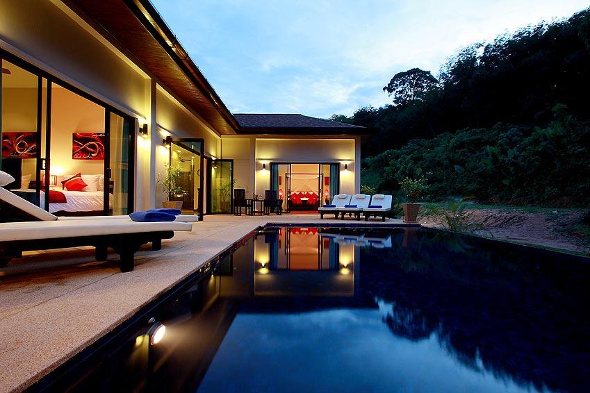 infinity pool crystal villa nai harn phuket holiday rental