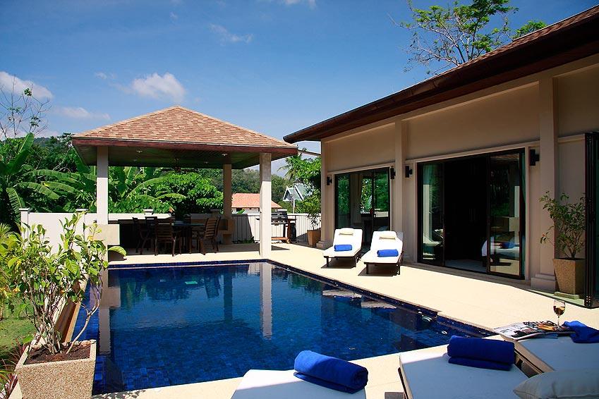 infinity edge swimming pool crystal villa nai harn phuket holiday rental