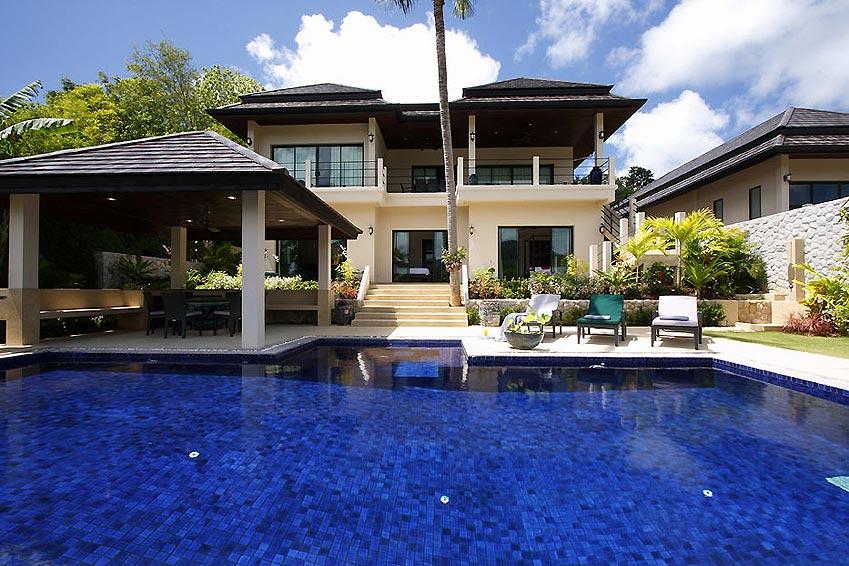 pool with sala and sundeck emerald villa nai harn phuket holiday rental