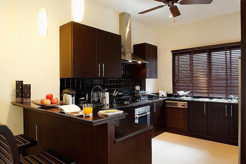 fully fitted western kitchen gemstone villa nai harn phuket holiday rental