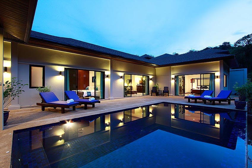 poolside sun deck gemstone villa nai harn phuket holiday rental