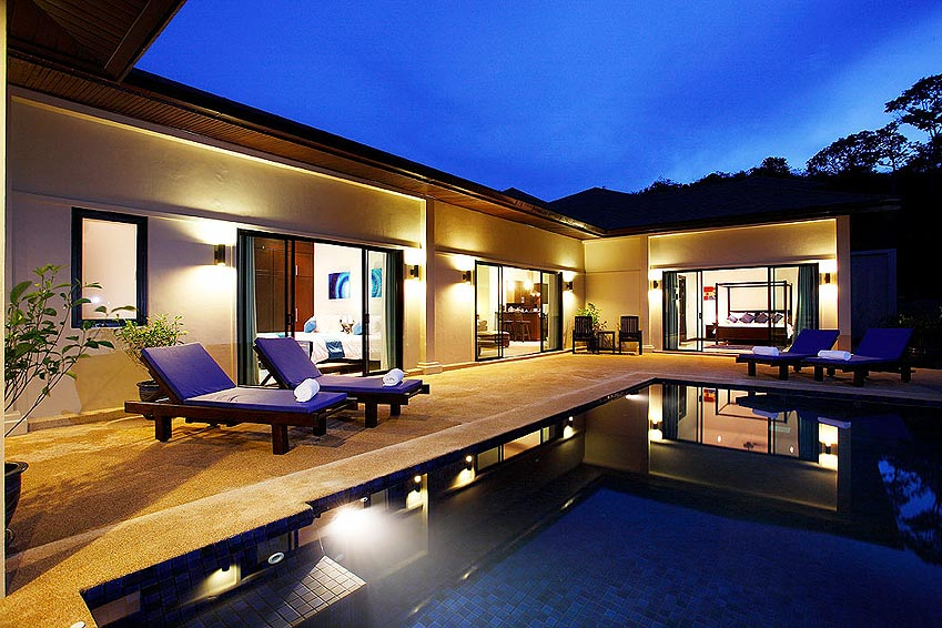 infinity pool gemstone villa nai harn phuket holiday rental