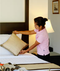 daily maid service bed linen change the villas phuket nai harn
