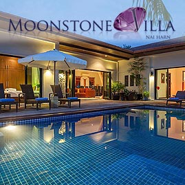 moonstone villa, nai harn phuket, sleeps 10 with 5 bedrooms and 4 bathrooms