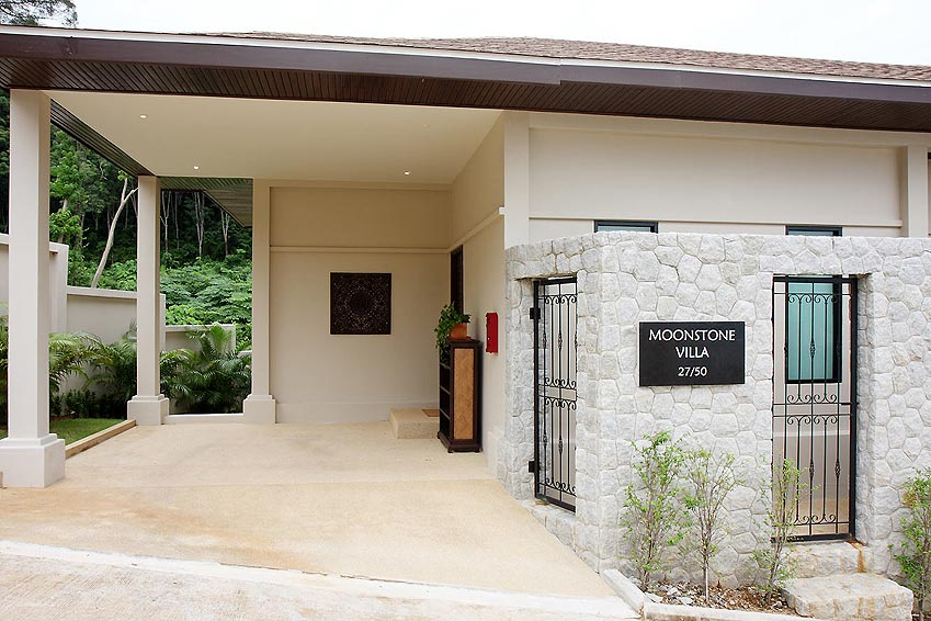 front entrance parking moonstone villa nai harn phuket holiday rental